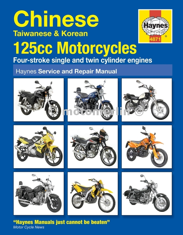 125 motorcycles haynes workshop manual taiwan korean baotion jialing sym merlin books